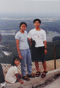 Visit to Stone mt. in 2000
